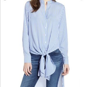 Bishop+Young Devin tie front high low stripe tunic
